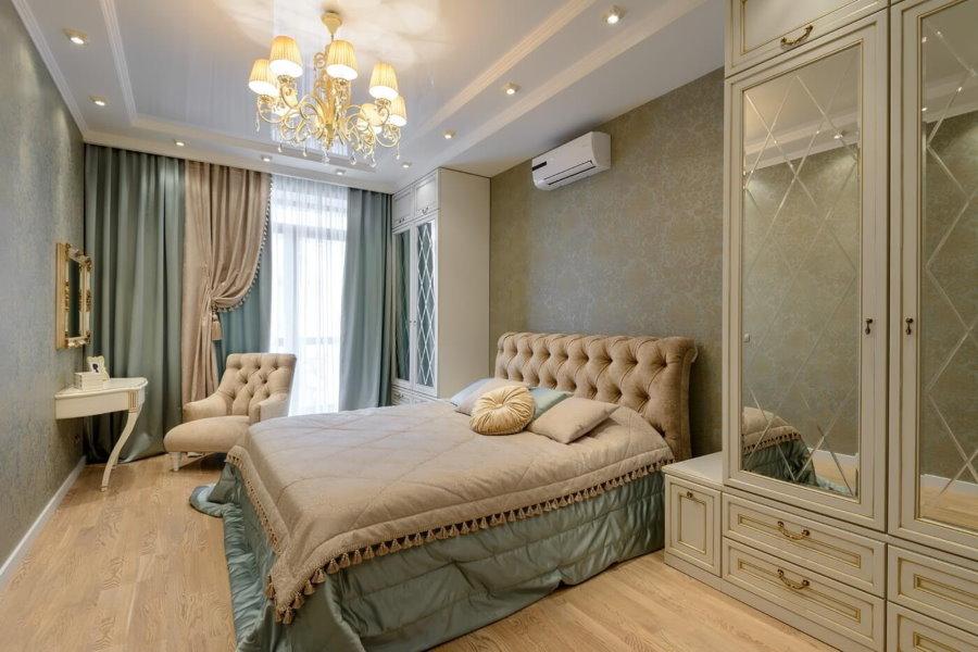 Освещение спальной комнаты в стиле неоклассицизма