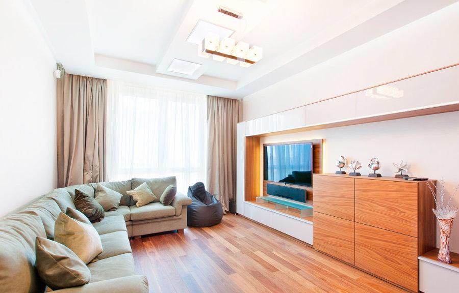 Освещение в гостиной комнате новой квартиры