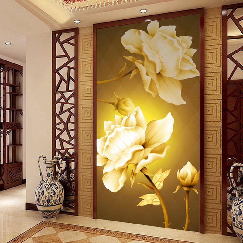 Интерьер коридора со светодиодными фотообоями