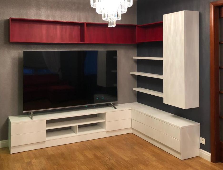 Угловая стенка с тумбой под телевизор