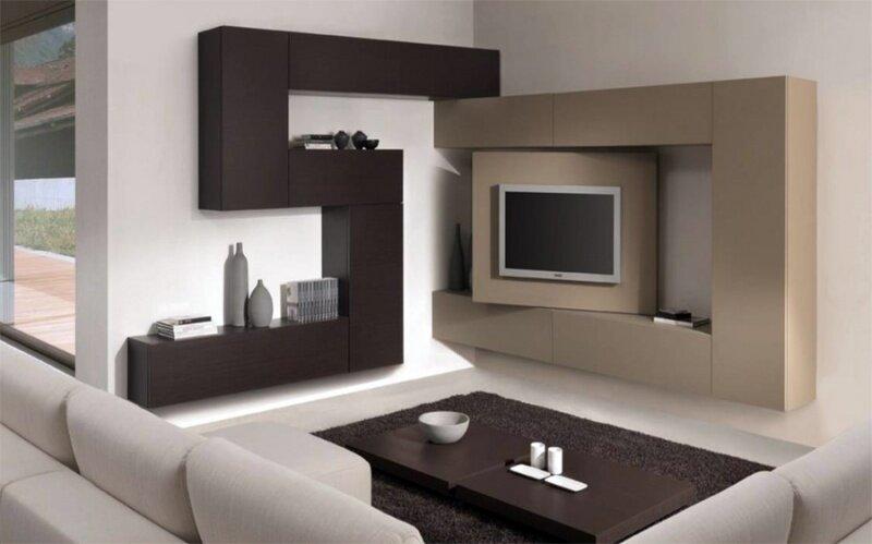 Оригинальная модель угловой стенки для гостиной