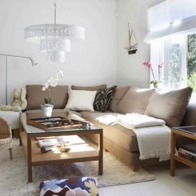 Современная модель углового дивана