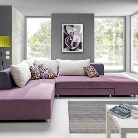 Лаконичная модель дивана в современном стиле