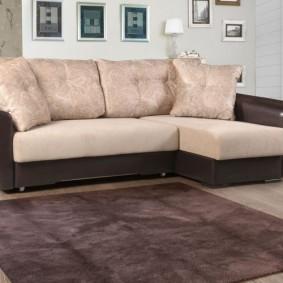 Комфортная мебель в интерьере гостиной