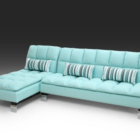 Бирюзовый диван раскладного типа