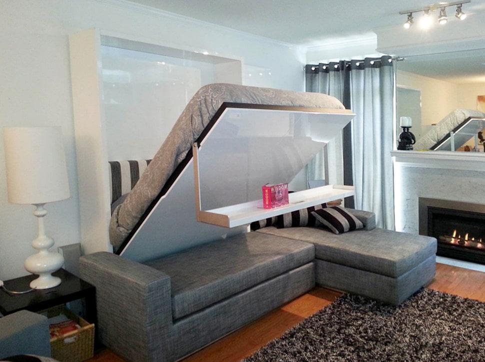Угловой диван-кровать с трансформирующимся механизмом