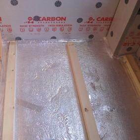 Теплоизоляция пола балкона с помощью пенофола