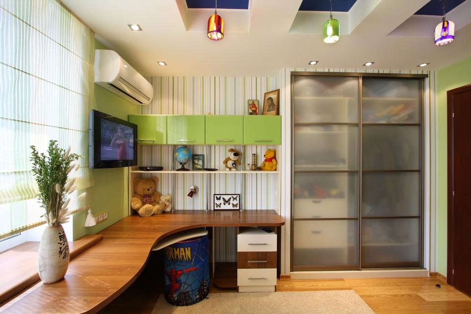 Дизайн детской комнаты со встроенным шкафом