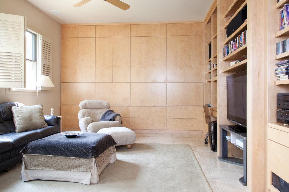 Гостиная комната с угловой стенкой из МДф