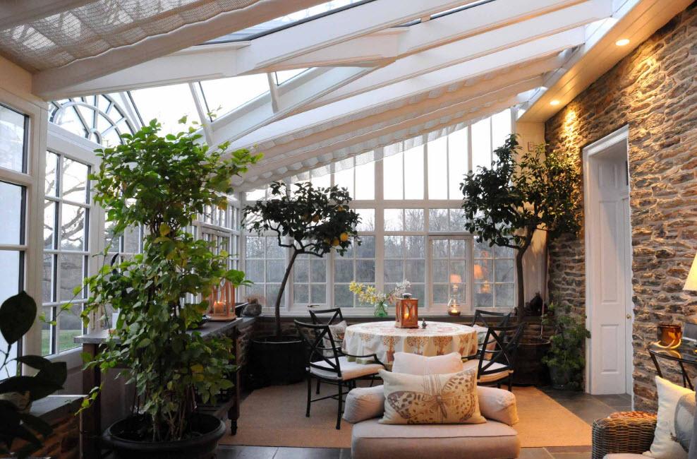 Дизайн зимнего сада в загородном доме