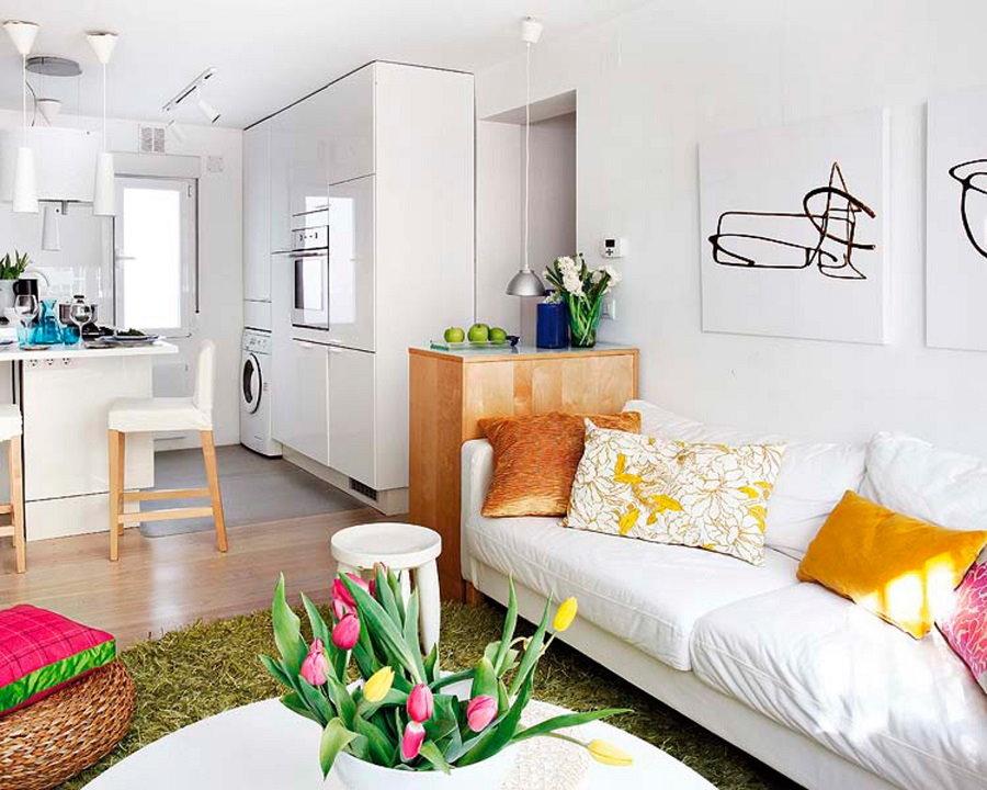 Белые стены в маленькой квартире