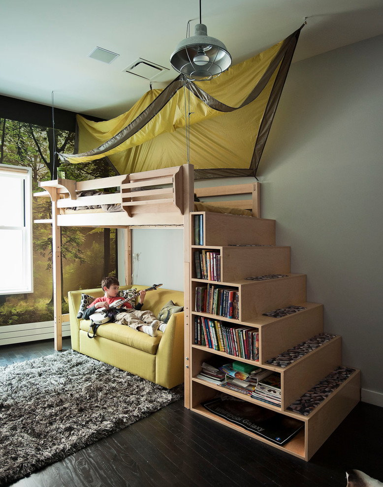 Кровать-чердак для ребенка в однокомнатной квартире