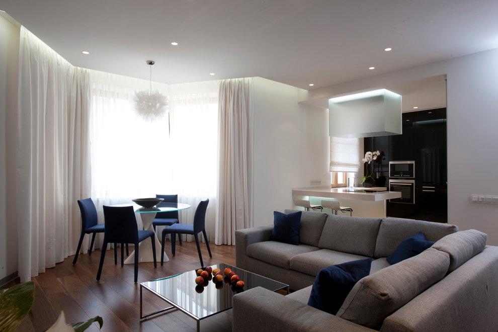 Расстановка мебели в квартире студийной планировки