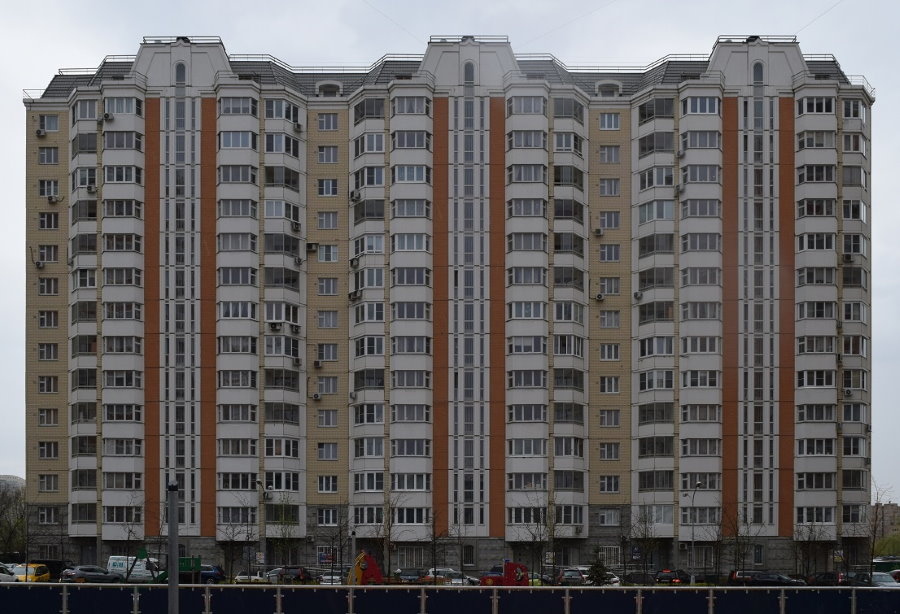 Фото фасада панельного дома серии П 44