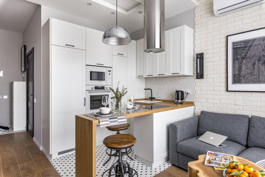 Рабочая зона кухни в квартире эконом класса