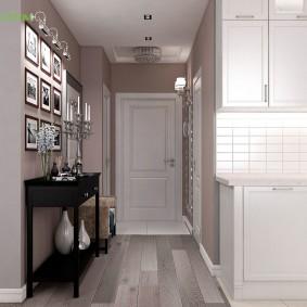Светлый коридор в однушке панельного дома