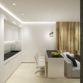 Минималистический интерьер однокомнатной квартиры