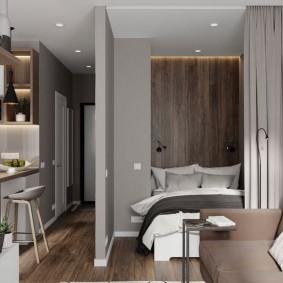 Узкий коридор в маленькой квартире