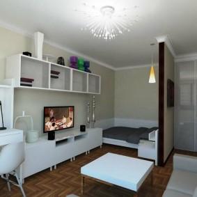 Место для кровати в однушке небольшой площади