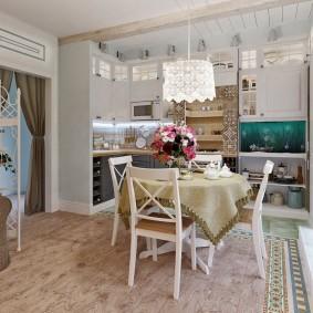 Красивое оформление интерьера квартиры студии