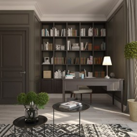 Книжные стеллажи высотой до потолка