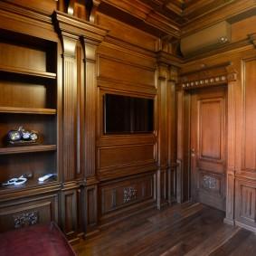 Встроенная мебель в домашнем кабинете