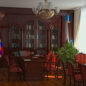 Российский триколор в домашнем кабинете