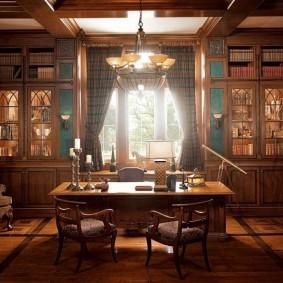 Расстановка мебели в кабинете частного дома