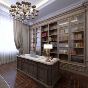 Встроенные шкафы для размещения домашней библиотеки