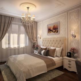 Красивая спальня в классическом стиле интерьера