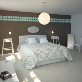 Декор спальни обоями на виниловой основе