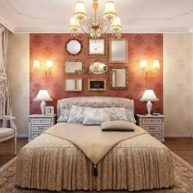 Организация освещения в просторной спальне