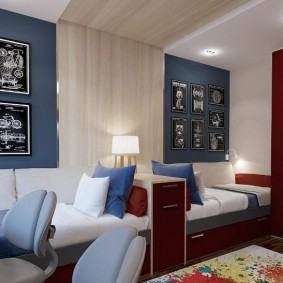 Дизайн детской спальни для двоих братьев