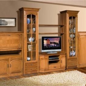 Деревянная мебель для гостиной комнаты