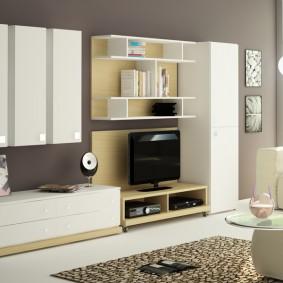 Дизайн гостиной с мебелью модульного типа