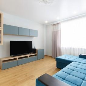 Лаконичная атмосфера в гостиной квартиры