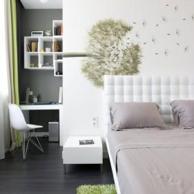 Фотообои с изображением одуванчика в спальную комнату