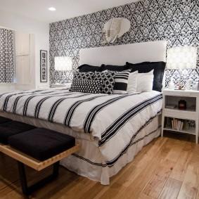 Оттенки серого цвета в интерьере спальни