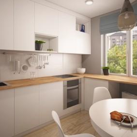 Просторная кухня в панельном доме