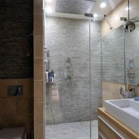 Стеклянные дверцы на душе в квартире