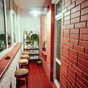 Дизайн утепленной лоджии в однокомнатной квартире