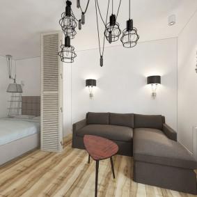 Угловой диван с текстильной обивкой