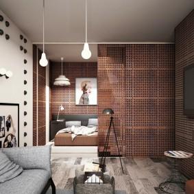 Перфорированные панели в интерьере квартиры