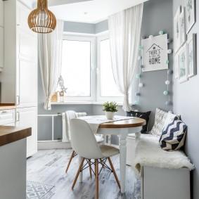 Уютная кухня в скандинавском стиле