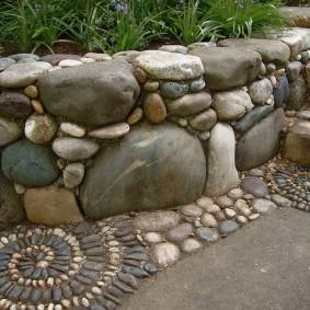 Каменный бордюр своими руками