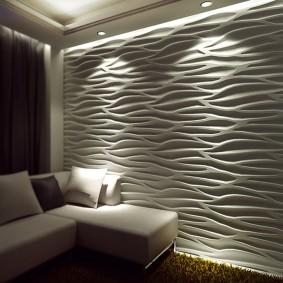 Декоративная подсветка панелей с 3d эффектом