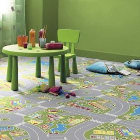 Детский ковролин в интерьере квартиры