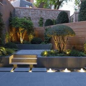 Оформление внутреннего дворика на садовом участке