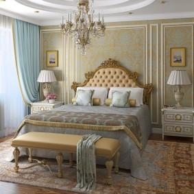 Классическая мебель в интерьере спальни