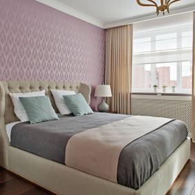 Лаконичный интерьер спальни в квартире